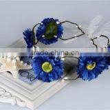 artificial Flower Wreath Cute Woodland Halo Crown Hair for wedding & bridal hair crown accessory