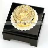 Chinese Gifts 24K Gold Mooncake with Chinese goddess of the moon Chang e and Acrylic Display Box