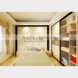 Popular 2016 Hot Sell Bedroom Furniture White Steel Frame Clothing Wardrobe Design/ Metal Closet