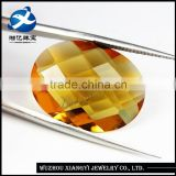 wholesale oval shape bezel set crystal glass gemstone beads for dresses