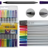 10 Pack washable water color pen in PVC bag set