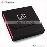 high quality black art paper magnetic jewllery boxes with hot foil stamping logo made in shanghai