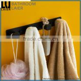 Grooming Understated Design Zinc Alloy Soft Feeling Bathroom Sanitary Items Wall Mounted Triple Bathrobe Hook