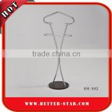 Taiwan manufacturer home or hotel valet folding stand coat and pants hanger stand wooden valet stand