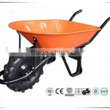 factory heavy duty foam pu wheel WB7503 wheel barrow making machinery hand cart trolleys