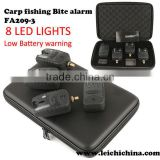 Wireless electronic carp fishing bite alarm