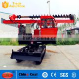 Solar power crawler ground pile driver for screw installing