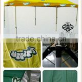 Outdoor folding tent with aluminum or iron stand for advertising 6stand tent customized promotional advertising umbrella