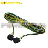 H60026 Trailer 20 Wiring Harness 4 Pole Conductor Wire with 4-Flat Plug 18ga Boat RV