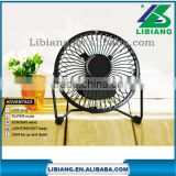 "8 color 4"" steel structure wtih rubber fan Portable USB Cooling Mini Fan or Air Conditioner Fan"