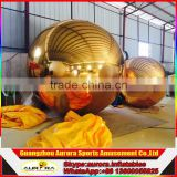 High quality Large Inflatable Mirror Ball Silver mirror balloon for Wedding Stage Christmas Decoration