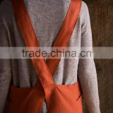 New style cross back apron for chef wear,embroidery apron wholesale