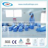 CE/ISO Approved Disposable Sterile Nonwoven Standard Surgical Gown/Reinforced Surgical Gown