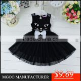 MGOO Elegant Brand Design Black Cat Dress For Girl Party Infant Tutu Dress Princess Vestidos 0431