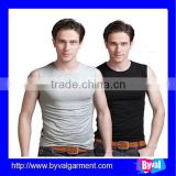 wholesale summer stretch men vest blank tight vest with sleeveless high quality tank top for men