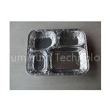 Four Compartments foil takeaway containers / Aluminum Foil Boxes for Fast Food  With Lid
