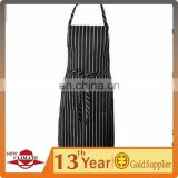 Chef Works Chalk Stripe Bib Apron with Pockets,100%cotton twill water proof apron