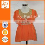 Latest Designs Women Tops And Blouses High Quality Neck Designs For Ladies Dress Tops