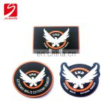 Cheap funny moral 3d soft pvc patches with hook backed