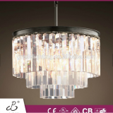 2015 NEW STLYE ODEON CLEAR GLASS CRYSTALS FRINGE 3-RING CHANDELIER