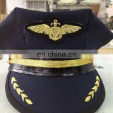 customized uniform cap with embroidery logo and leaf visor