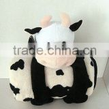 25cm baby plush cow toy with towel