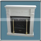 modern white fireplace mantel with carvings