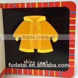 FDT customized top quality and lovely creative baby touch and feel board book printing with cloth