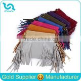 Fashion Fringe Suede Leather Clutch Bag For Girls Magazine Clutch Bag With Tassels