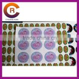 Small MOQ brand name gel Self-Adhesive 3-D clear make custom crystal window gel stickers