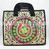 China <b>Yunnan</b> Style beautiful Flower embroidery laptop bag /cross bag
