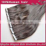 2015 christmas hot sell cheap brazilian Double drawn pu skin weft tape human remy hair extensions