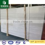 Wooden white veins marble slabs floor tiles, Perlino Bianco marble