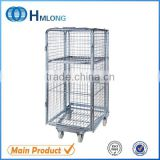 Logistic 4 sided rolling heavy industrial trolley