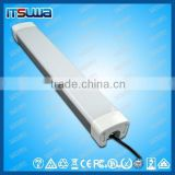 Direct indirect lighting luminaire linear 1.2m 4ft 40W 60W LED tri-proof light for indoor