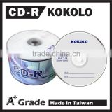 Taiwan factories A+ bulk cd-r record disc 52x 700mb