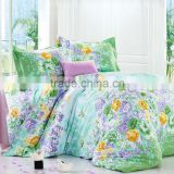 trade assurance 100%cotton pigment printed fabric flower design for bed sheet set/quilt cover set in France market