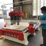 KC1325A-3S Wooden Door Manufacturing Machines CNC Router With 3 Air Cooling 4.5kw HSD Spindles for MDF Cutting Engraving