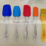 color silicone spatula,silicone cooking spatula,silicone spoon,Silicone BBQ spatula and brush set
