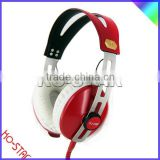Unique retro headphone with in-line mic and volume control optional for Cell phone and internet meeting or gaming