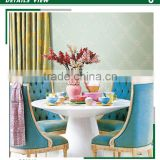 economic embossed pvc coated wallpaper, european damask wall sticker for home decorative , washable wall decal shop