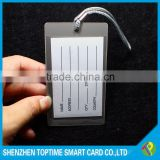 transparent loop strap custom lanyards for luggage tag compliant with US standard