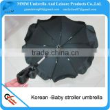 2014 black color oxford-baby stroller umbrella for korea