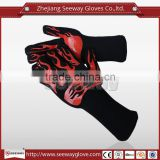 SEEWAY Ove Glove Hot Surface Handler Oven Mitts Microwave Oven Glove with Non-Slip Silicone Grip