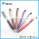 2 in 1 crystal bling stylus ballpoint pen promotional metal glitter ballpoint pen for woman gift                                                                         Quality Choice