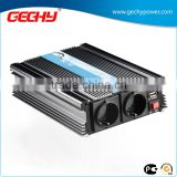 HY-600W 12v-230v DC to AC modified or pure sine wave car power inverter with USB port with dual european output sockets