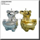 chrome plated ceramic rat money bank