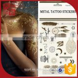 Beauty water transfer customized gold tattoo supply, metallic temporary tattoo                                                                                                         Supplier's Choice