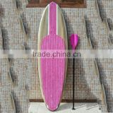 China made high quality wooden paddle surfing sup stand up paddle boards