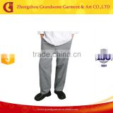 Hot Seller Grey Print Baggy Chef Pants